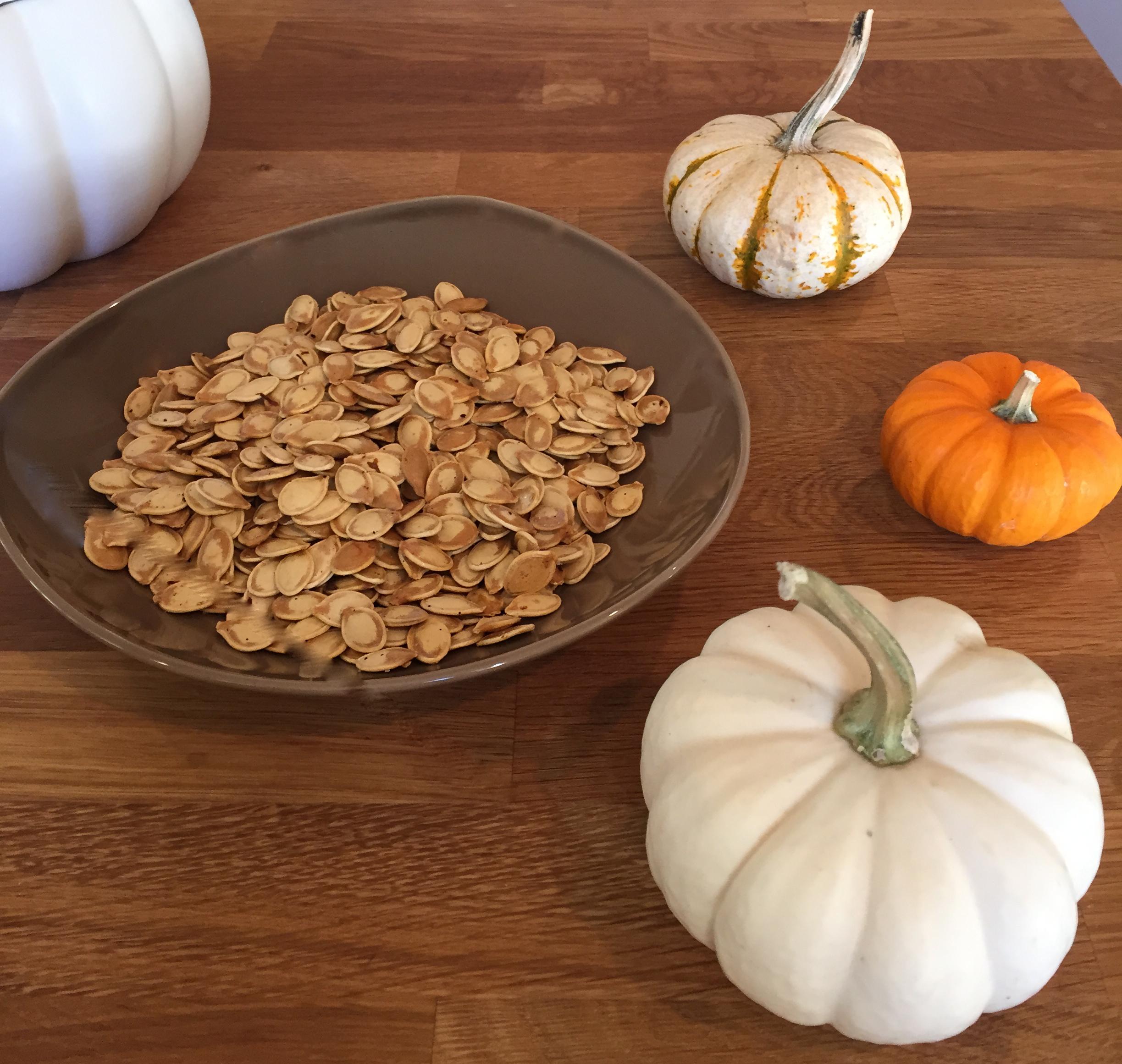 Roasted Pumpkin Seeds!!!!!